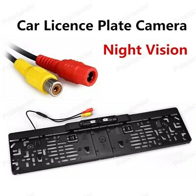 Night Vision EU Car License Plate Frame Rearview Camera 170 Degree Viewing Angle