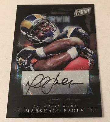 2018 Panini Black Friday Marshall Faulk Hyper Refractor Auto 11 SSP 1 of 1 Rams