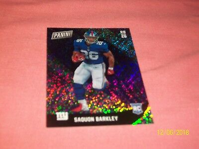 SAQUON BARKLEY 2018 Panini BLACK FRIDAY PARALLEL ROOKIE  D 0525