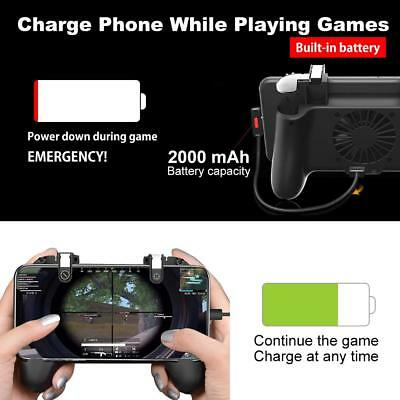 PUBG Fortnite Game Mobile Controller with Portable Charger Cooling Fan 2019 New