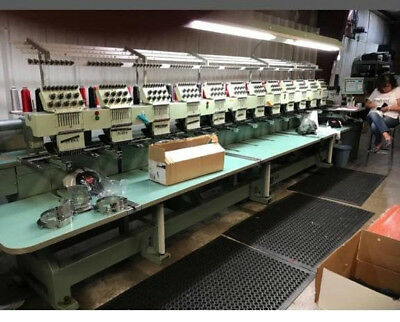 TAJIMA 12 Head Automatic Embroidery Machine TME-DC912