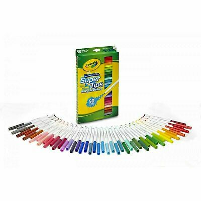 Crayola 50ct Washable Super Tips Markers 50 Color Variety Art Children Drawing