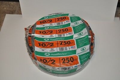 SOUTHWIRE 102 UF-B  Underground Feeder Cable outdoor  250 FT COPPER CONDUCTORS
