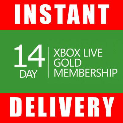 Xbox Live 14 Day Gold Trial Membership Code 2 Weeks - Instant Dispatch 247