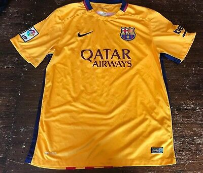 Nike FC Barcelona Dri-Fit 2015 Authentic Soccer Football Jersey Men's Size Large