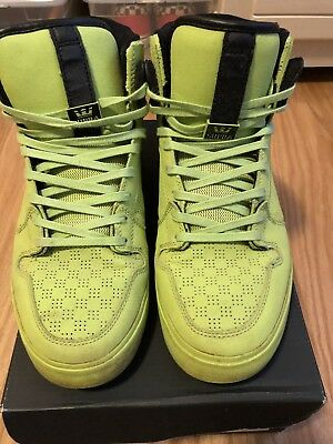 SUPRA VAIDER Tennis Ball GREEN SKATEBOARD SHOES 11 Sold Out