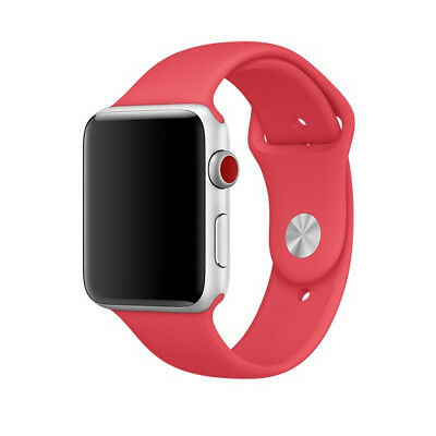 Genuine Apple Watch 38mm 40mm Sport Band Red Raspberry MRGQ2AMA ML size only