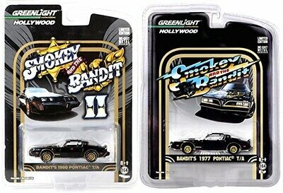 Greenlight 164 Smokey and the Bandit Set 1977 and 1980 PONTIAC TRANS AM NEW