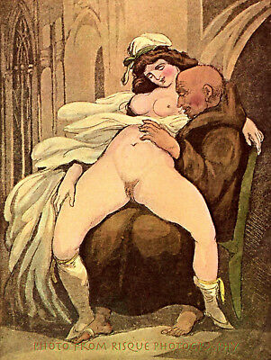 Nude Woman Lover on Lap 8-5x11 Photo Print Thomas Rowlandson Illlustration Art