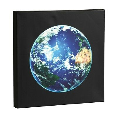 Wall Art - Planet Earth LED Lighted Canvas Stretched Over Wood - 14X14