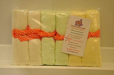 Baby Organic Bamboo Washcloths-wipes Extra Soft - Absorbent Cocobabycare