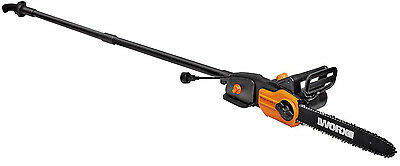 WORX WG310 8 Amp 8 2-In-1 Electric Pole Saw - Chainsaw with Auto-Tension