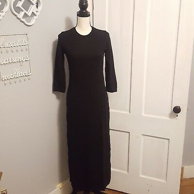 Zara Womens Black Cotton Knit Dress Size Small Or Large CasualCareer New