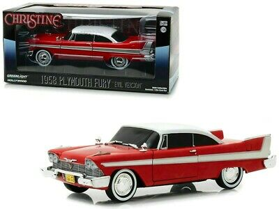 GREENLIGHT 84082 1958 PLYMOUTH FURY CHRISTINE BLACKED OUT VERSION DIECAST 124