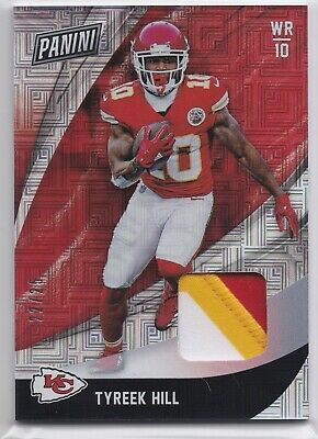 2018 Panini Black Friday Tyreek Hill Patch Relic 2225  3 Color Chiefs