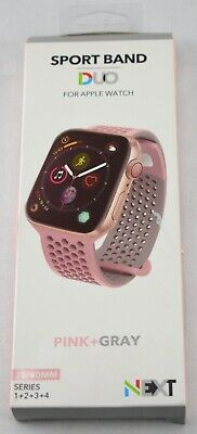 NEXT - Sport Band Duo for Apple Watch 38mm and 40mm - GrayPink - 143JJ