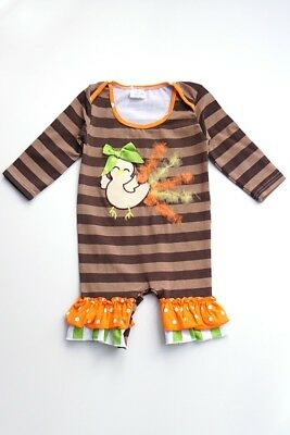 Honeydew Boutique Style Infant Girl Thanksgiving Turkey Outfit 12-18 Months