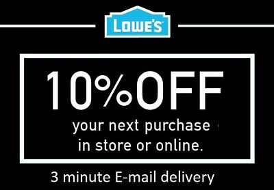 THREE 3x Lowes 10 OFF 3Coupons Discount - Lowes In storeonline -FAST Delivery