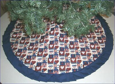 Fourth of July Tree Skirt - 47 -  Country Americana  Custom Made
