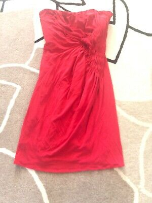 Issa London Kate Middleton Favorite Red Sleeveless Cocktail Party Dress 4