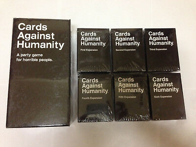 Final sale Cards Against Humanity Base - 6 expansions free 3-day shipping