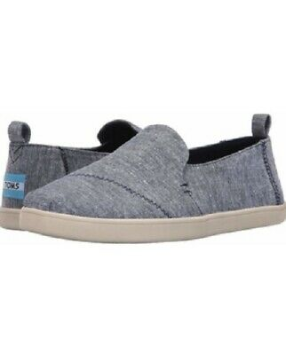 Toms Classic Slip On Casual Shoes Deconstructed Alpargata Womens Chambray Blue