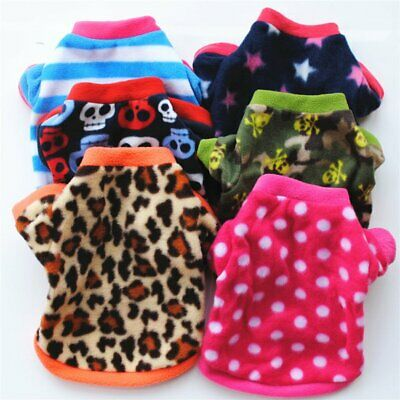 AUTUMN WINTER DOG CLOTHES WARM COAT COTTON FABRIC JACKET PULLOVER OUTFIT Z1