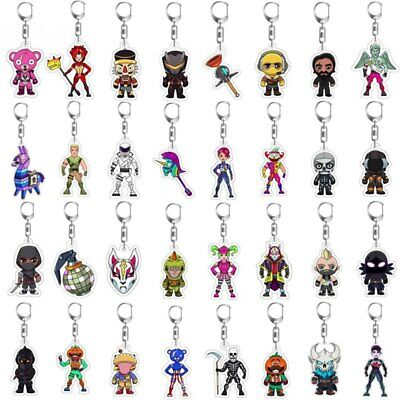Fortnite Battle Royale Keychain Model Toys Game Characters Action Fans Merch