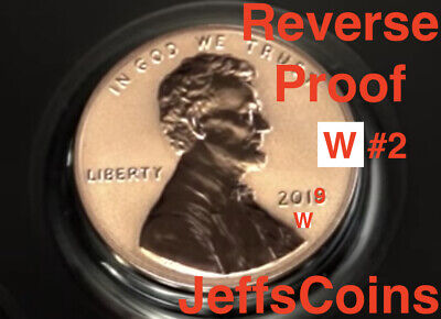 2019 W REVERSE Lincoln Shield Cent Proof New West Point Penny Union US Mint 23