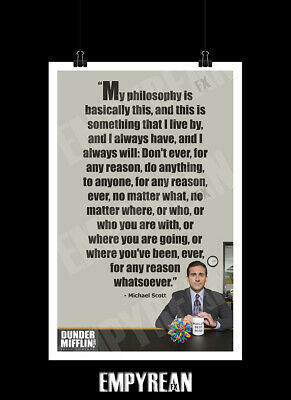 Michael Scott Philosophy Poster The Office Dunder Mifflin Art Print