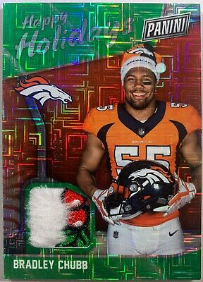 Bradley Chubb 2018 Panini Black Friday Holiday Santa Hat Mojo RC Patch 1925