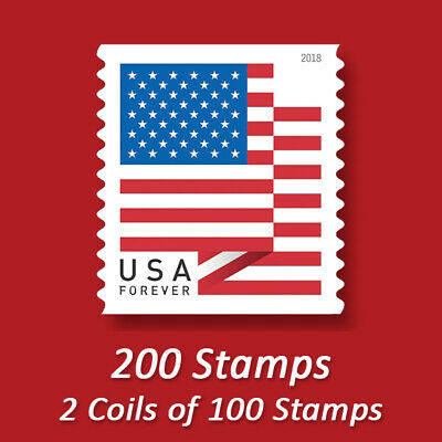 200 USPS FOREVER STAMPS CHEAP Postage- FREE SHIPPING