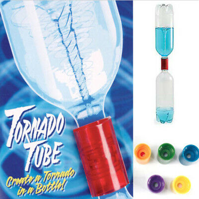 4pcs tornado vortex bottle water connector science cyclone tube experiment NE