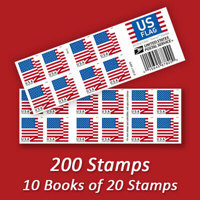 200 USPS FOREVER STAMPS 10 Books of First Class Mail Postage