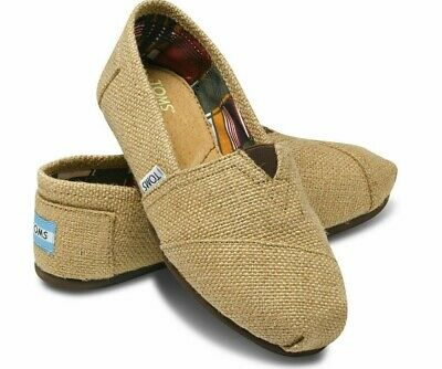 NEW Toms Women Classic Burlap Natural Slip on Shoes