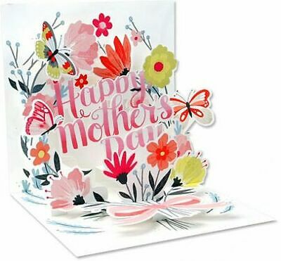 Mothers Day Greeting Card 3D Pop Up Card Springtime Bouquet Up With Paper