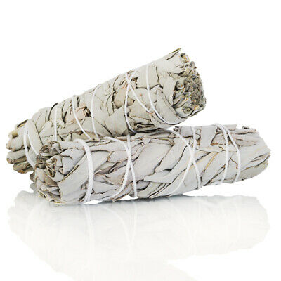 White Sage Smudge Stick 4 - 5  2 pack Herb House Cleansing Negativity Removal
