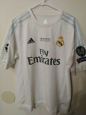 REAL MADRID 2016 CHAMPIONS LEAGUE FINAL JERSEY BALE USED