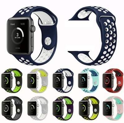 Sport Silicone Wrist iWatch Strap Band For Apple Watch SERIES 1 2 3 4 4244MM