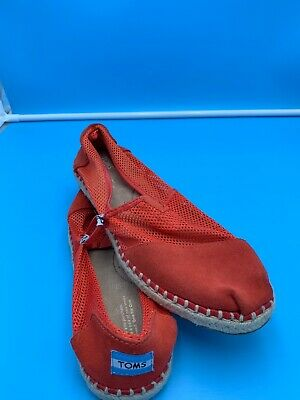 TOMS Classics Womens Slip-On Flats Shoes NEW NO BOX SZ 10 BURNT ORANGE MESH