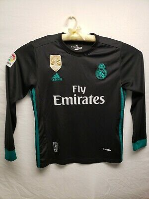 Real Madrid Fifa 2017 Soccer Jersey Fly Emirates Football Climalite Med