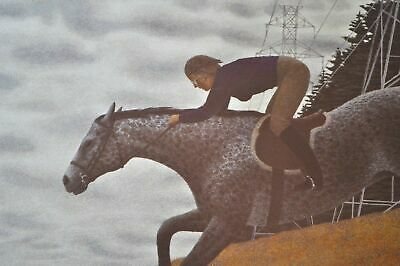 Vintage RARE Alex Colville Canadian Print Horse - Rider