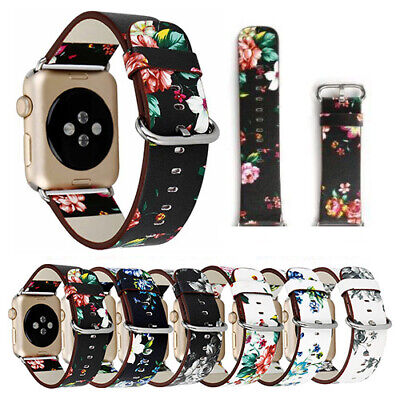 For iWatch Apple Watch Series 4 3 2 1 38 40 42 44mm Leather Band Strap Bracelet