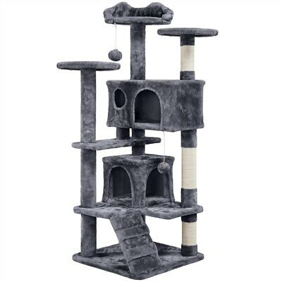 54 Cat Tree Activity Tower Pet Kitty Furniture with Scratching Posts - Ladders