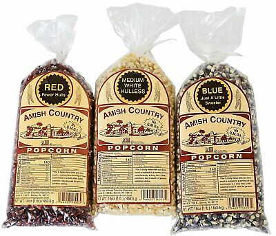 Amish Country Popcorn - Fourth of July Popcorn Bundle Red White - Blue