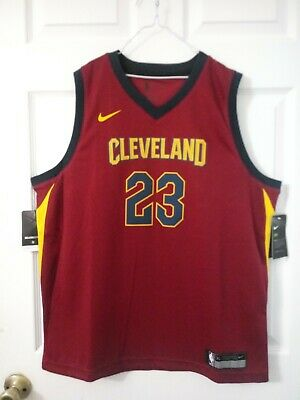 AUTHENTIC Nike DriFit NBA Cavaliers 23 Lebron James Jersey JUNIORS Size XL