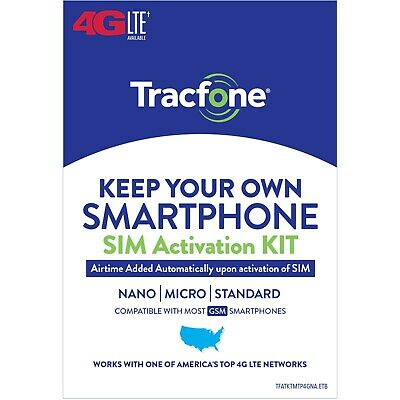 Tracfone Prepaid Wireless Smartphone Plan-SIM-1200 Min1200 Txt 3GB Data