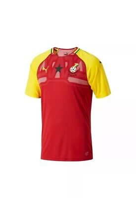 New PUMA Ghana 2018 Home Soccer Futbol Jersey World Cup Chilli Pepper Dandelion