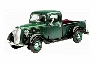 MOTORMAX 124 1937 37 FORD PICK UP TRUCK DIECAST GREEN 73233 New without Box