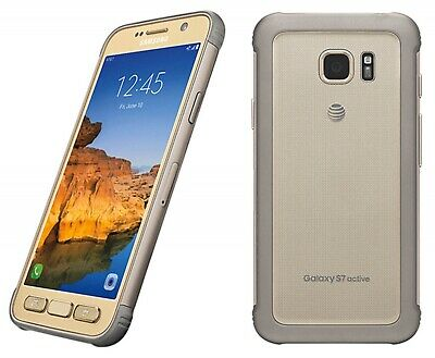 Samsung Galaxy S7 Active 32gb Sandy Gold AT-T Unlocked Android Discounted